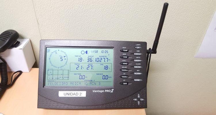 Consola de la estación meteorológica