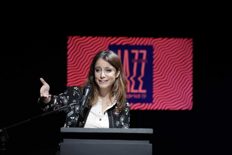 Andrea Levy durante la presentación del festival