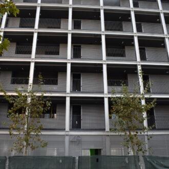 Imagen de un edificio sostenible de la EMVS