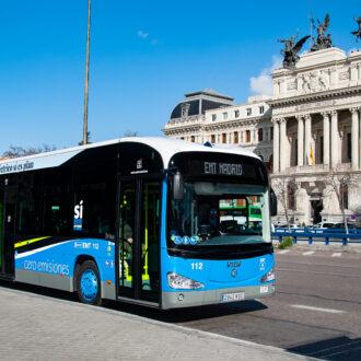 Autobús de la EMT de cero emisiones