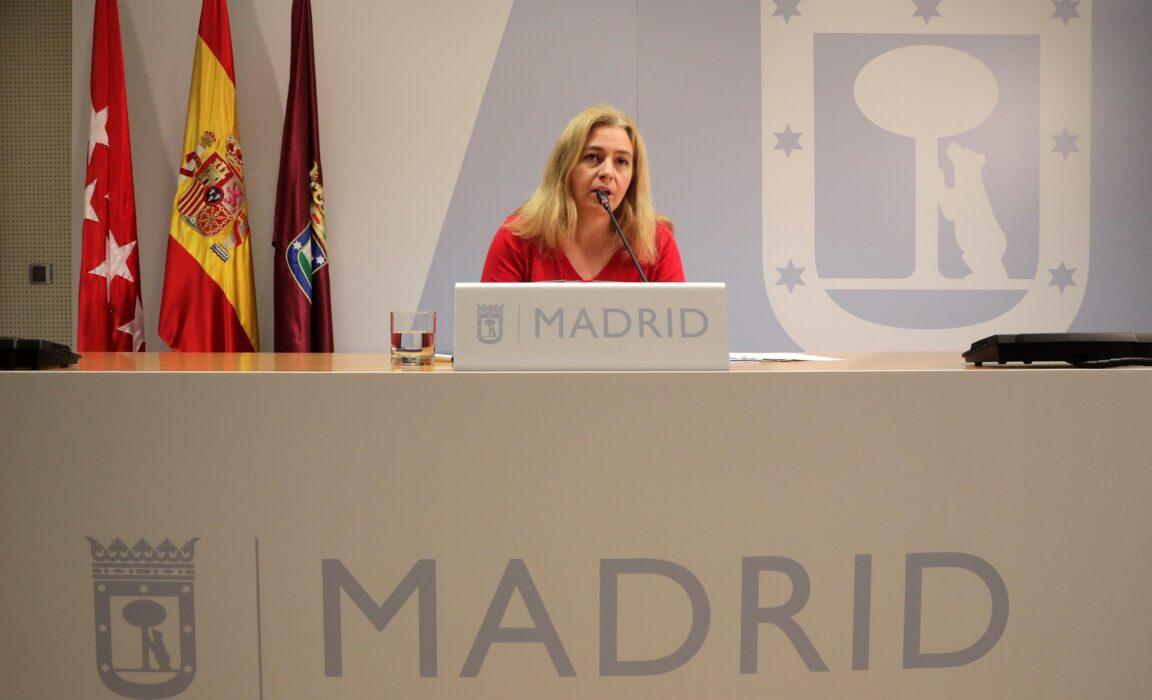 Inmaculada Sanz durante la rueda de prensa de la Junta de Gobierno