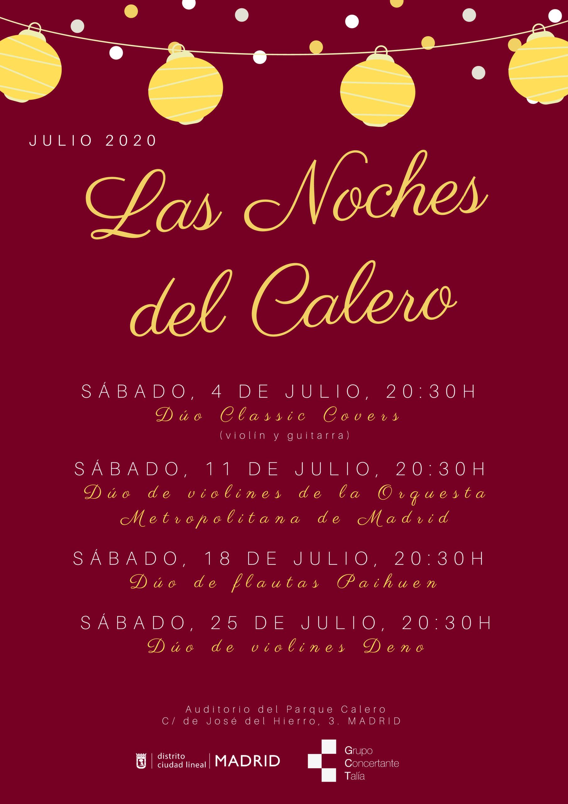 Las orquestas del Grupo Talía en Concierto en el Auditorio del Parque de El Calero