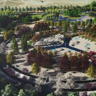 Simulación Plaza del Agua en La Gavia