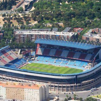 Vista aérea del estadio Vicente Calderón