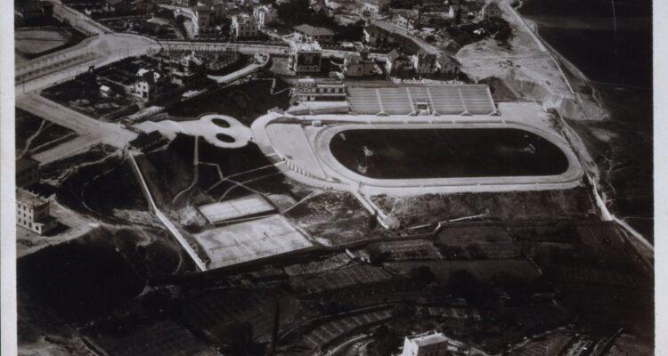Vista aérea del Estadio Metropolitano. 1929