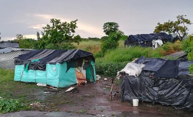 Imagen de uno de los campamentos en Colombia