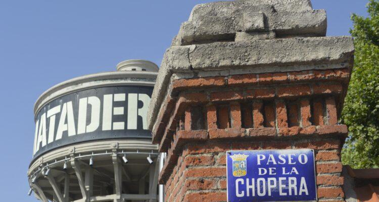 Depósito de Matadero Madrid esquuina con Paseo de la Chopera