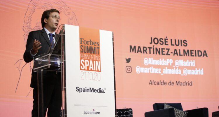 José Luis Martínez-Almeida, en la clausura de la tercera edición de Forbes Summit Reinventing Spain. Fotografías: Javier Carvajal
