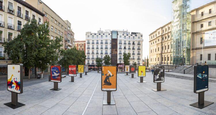 Plaza de Juan Goytisolo, otra de las muestras en la calle