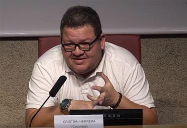 El periodista colombiano Cristian Herrera