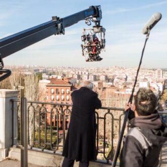 Imagen de un rodaje en Madrid
