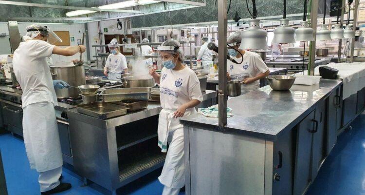 Cocinas solidarias Escuela de Hostelería de la Casa de Campo