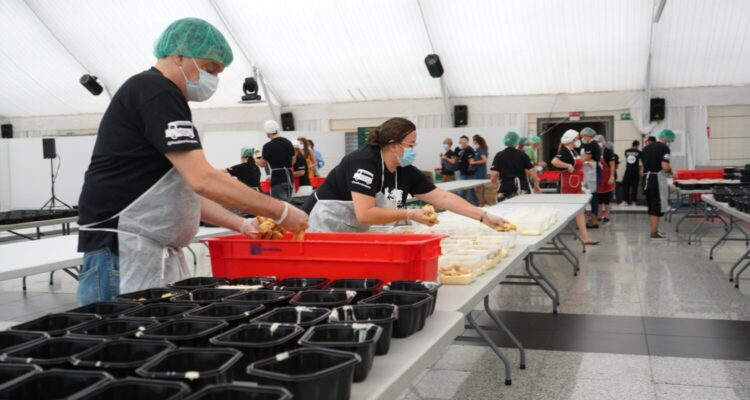 Cocinas solidarias en El Mirador de Cuatro Vientos