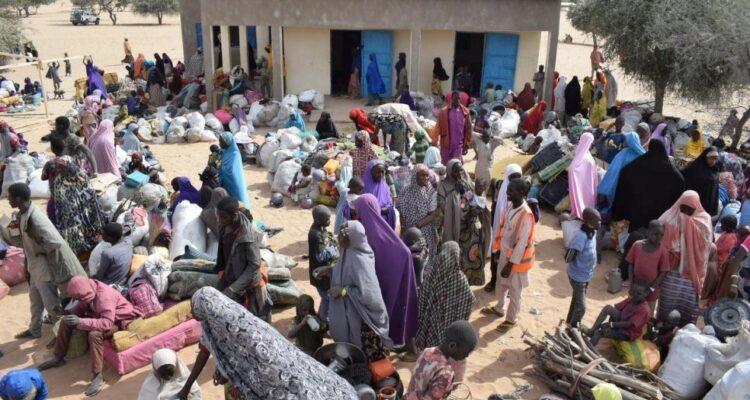 Imagen del campamento de refugiados sudaneses
