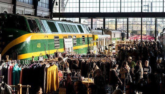 Interior de la estación celebrando Mercado de Motores. Imagen mercadodemotores.es