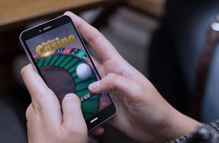 Imagen de archivo juegos de azar en el móvil