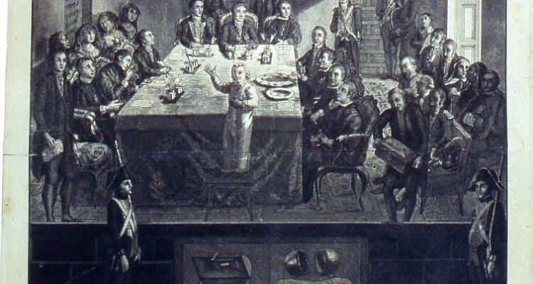 Acto público del sorteo de la Real Lotería de España (s. XVIII). Museo de Historia