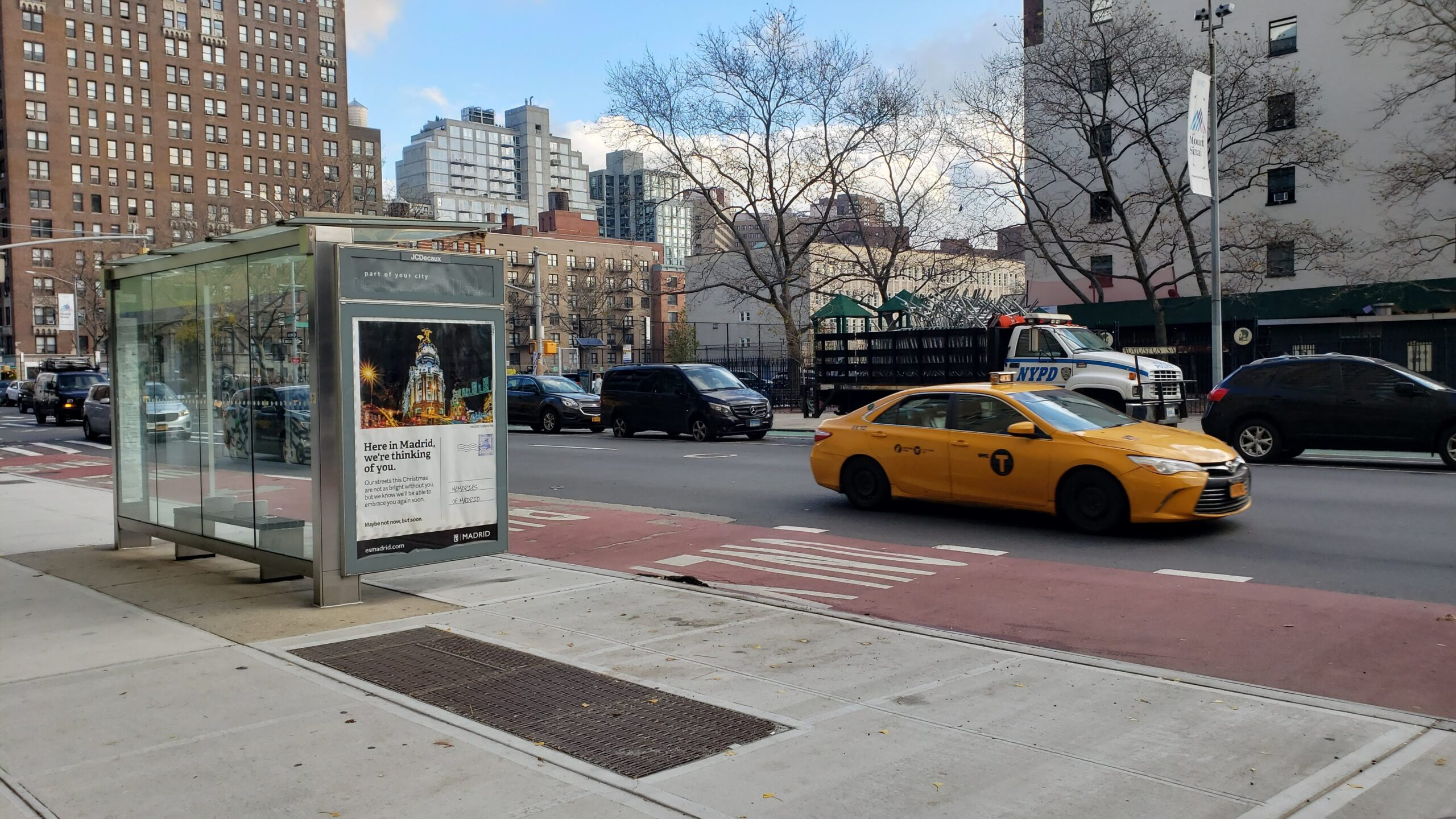Imagen de la campaña de turismo de Madrid que puede verse en decenas de marquesinas de Nueva York