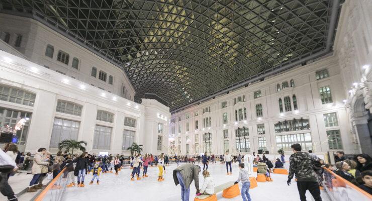 Pista de hielo Galería de Cristal en Palacio Cibeles