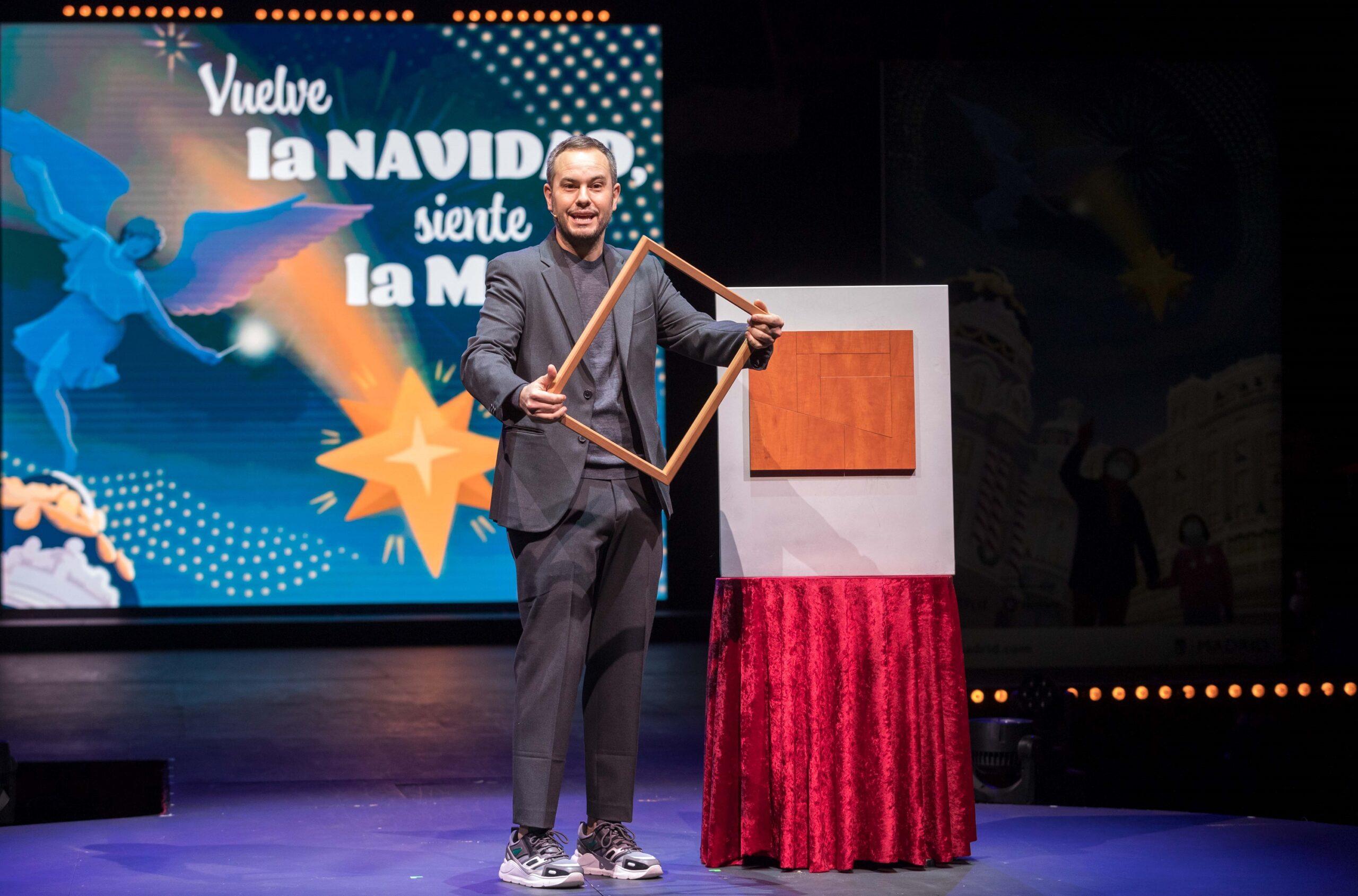 Jorge Blass. Presentación Navidad Ayuntamiento de Madrid 2020-21