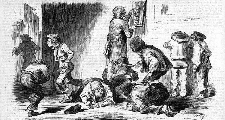 Una extracción de la Lotería primitiva en Madrid. El Museo Universal 1 octubre de 1856