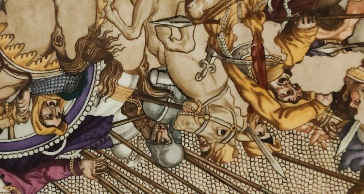 Reproducción mosaico suelo Palacio del Capricho. El comedor pompeyano. (AUDIOVISUAL ONLINE)