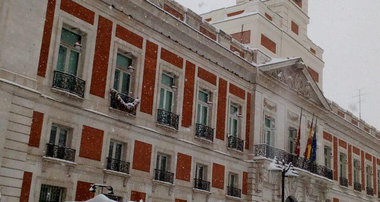 Puerta del Sol nevada en 2021. Foto Pilar Oviedo