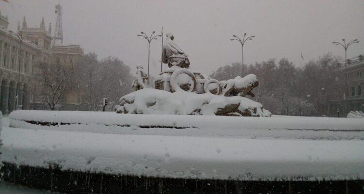 Cibeles nevada en 2021. Foto Pilar Oviedo
