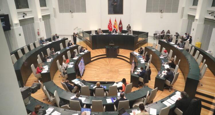 Pleno municipal celebrado este martes en el Palacio de Cibeles