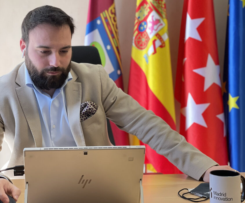 Ángel Niño durante la inauguración virtual de la formación