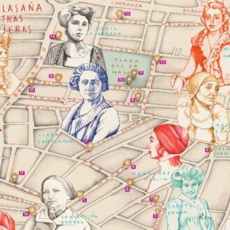 Mapa ilustrado 'Malasaña y otras mujeres'