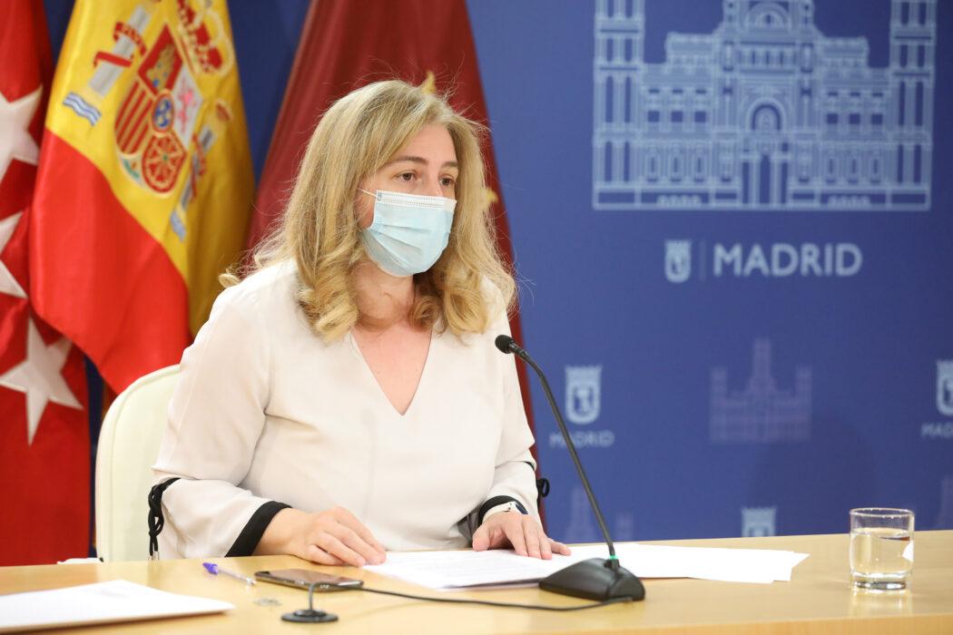 Inmaculada Sanz durante la rueda de prensa posterior a la Junta de Gobierno