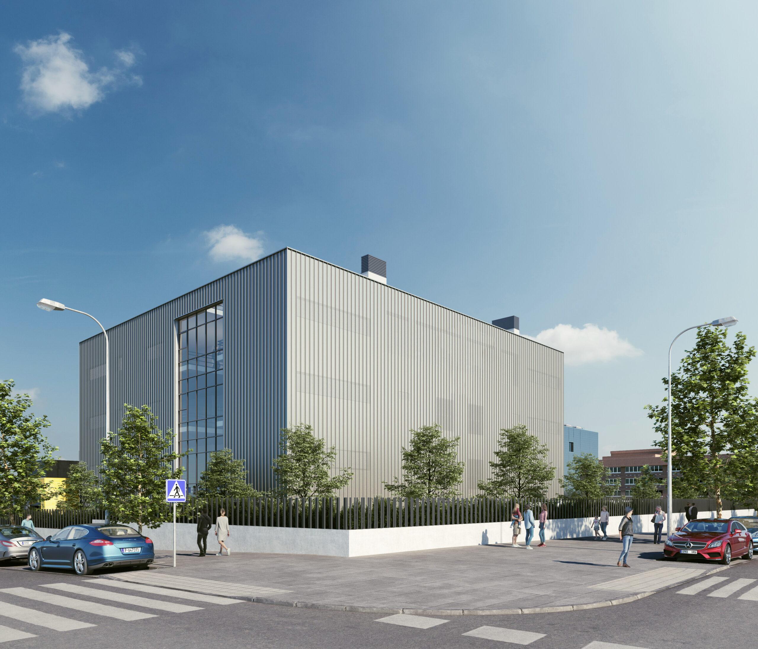 Recreación del nuevo edificio que albergará la sede la Junta Municipal de Puente de Vallecas