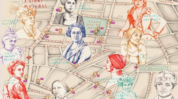 Mapa ilustrado 'Malasaña y otras mujeres