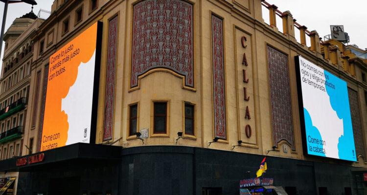 Pantallas digitales del Cine Callao
