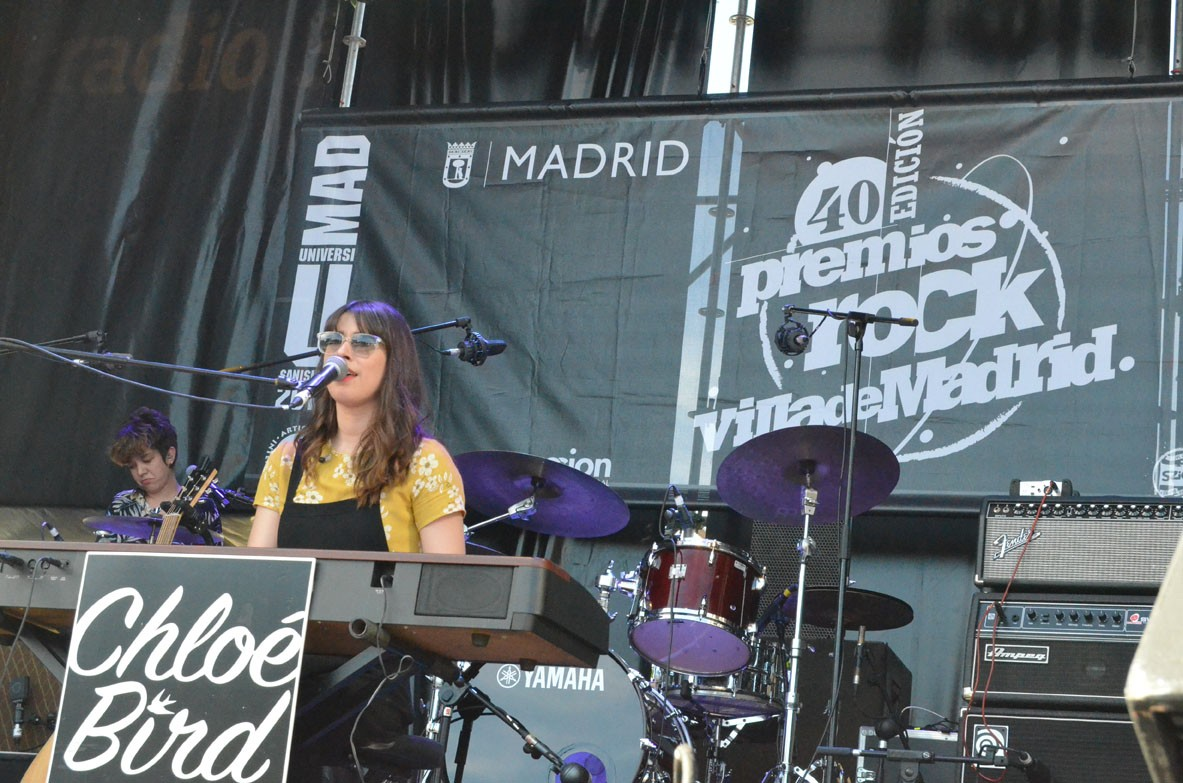 Chloé Bird ganó primer premio en la 40ª edición Rock Villa de Madrid 2019