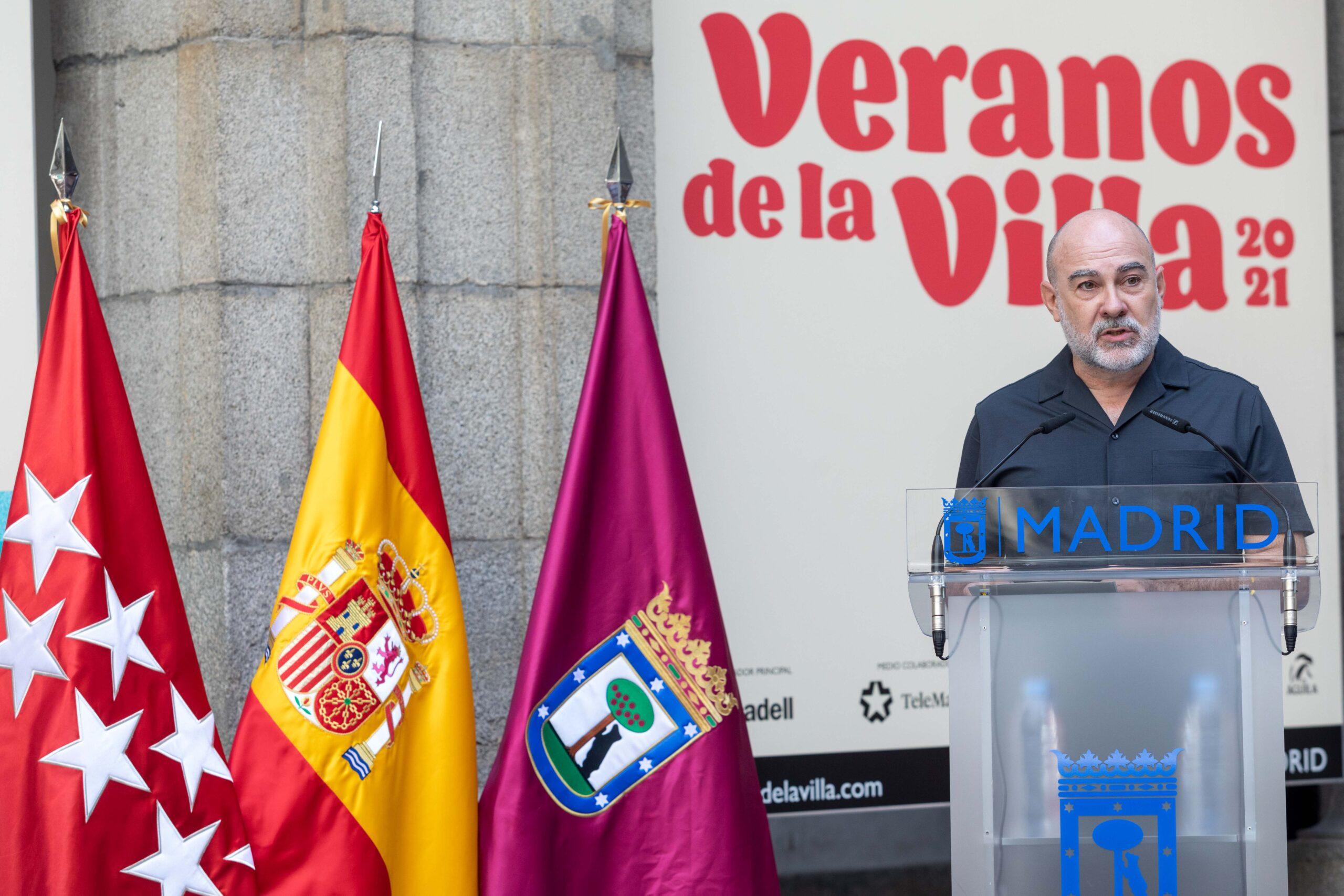 Ángel Murcia, durante la presentación de esta nueva edición de Veranos