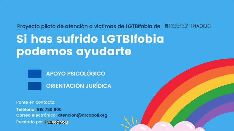 Proyecto piloto de ayuda a las víctimas de LGTBIfobia