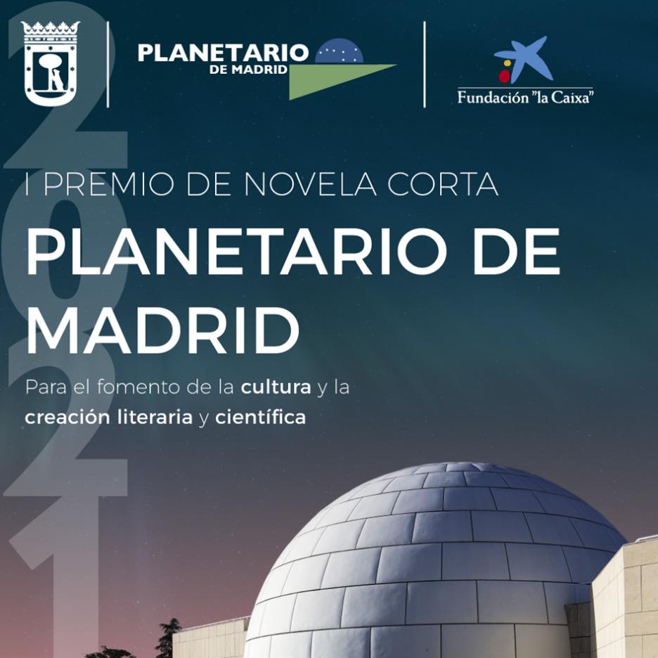 Cartel del I premio de novela corta convocado por Planetario de Madrid