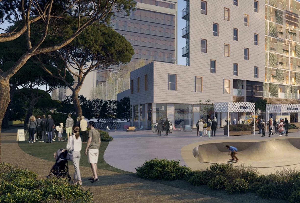 Proyecto futuro en el barrio del Aeropuerto. Distrito Barajas
