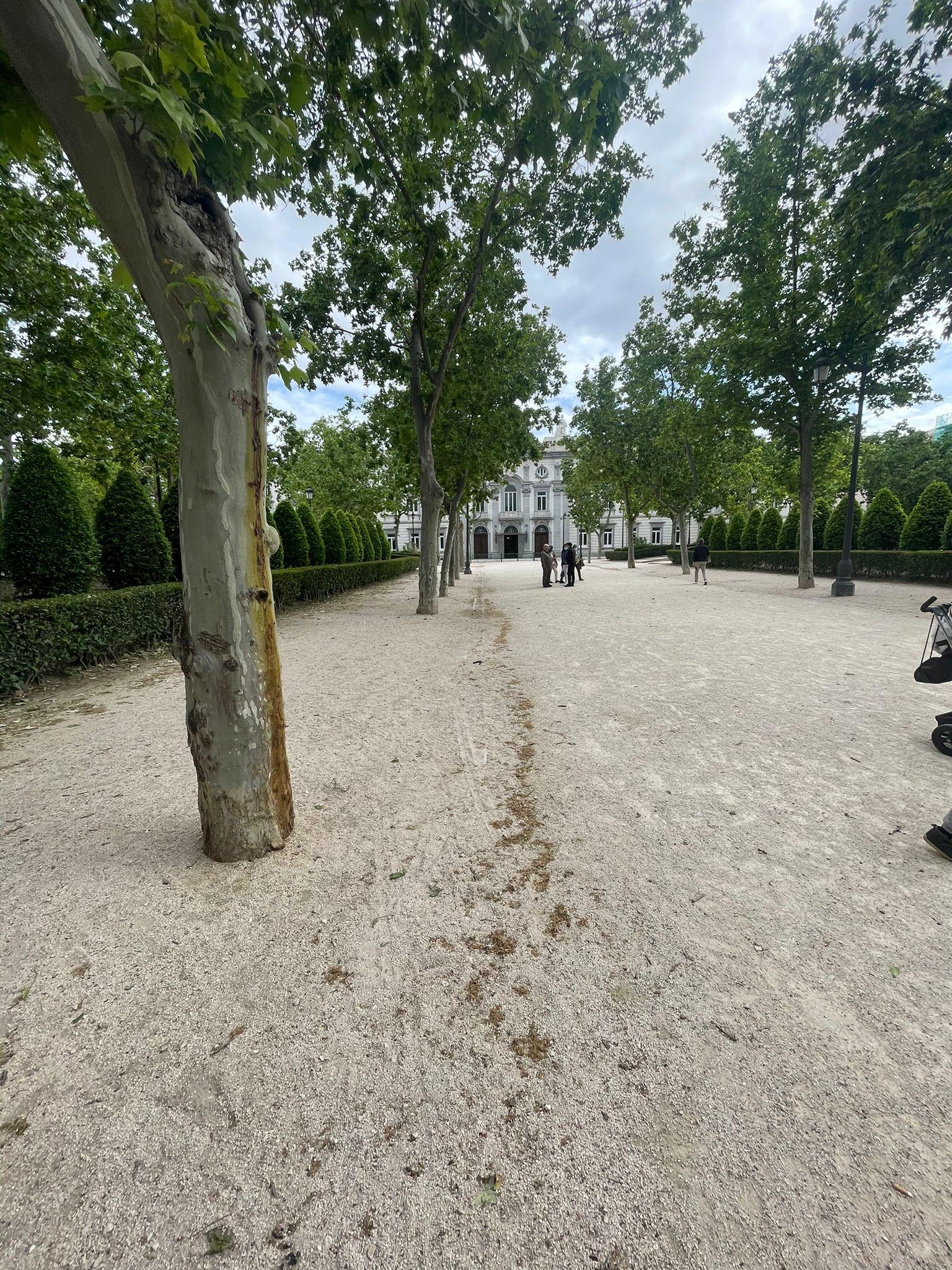 Plaza Villa de París, uno de iconos del barrio