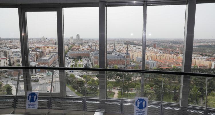 Vistas panorámicas desde el Faro de La Moncloa