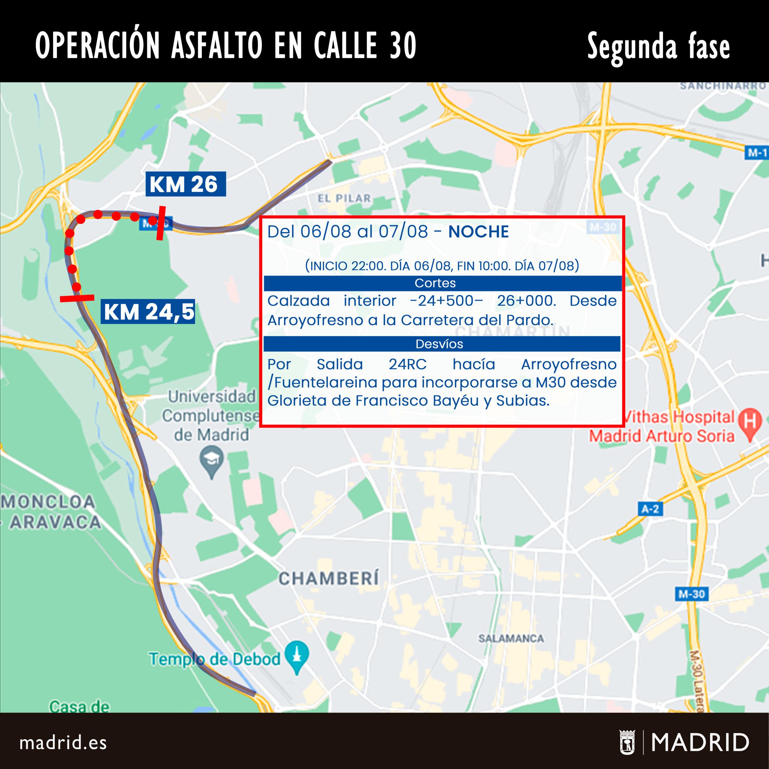 Segunda fase de la Operación Asfalto en Calle 30
