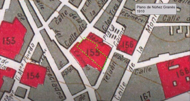 Frontón Central. Plano de la Cartoteca Municipal