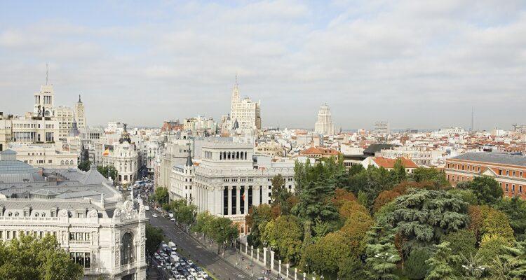 Vista panorámica desde el mirador del Palacio de Cibeles