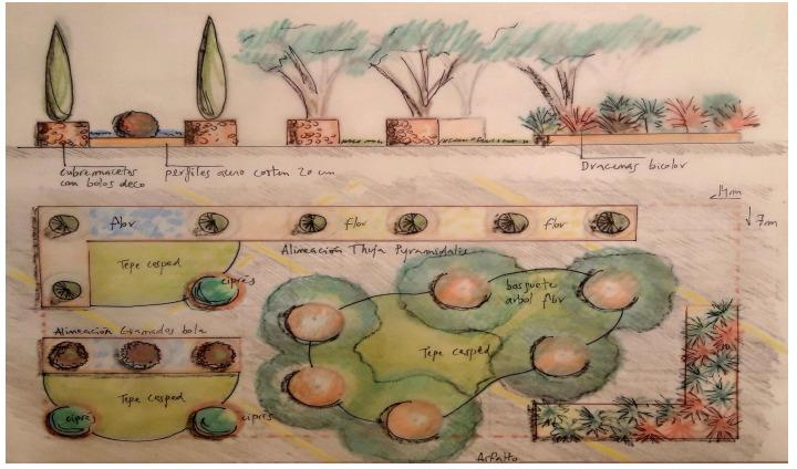 Propuesta de jardín efímero Raga