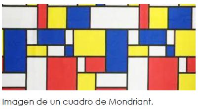 Imagen de un cuadro de Mondriant