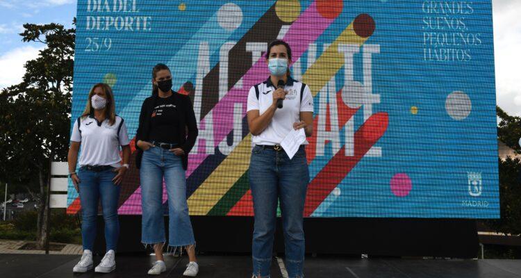 Intervención de Sofía Miranda durante la celebración del Día del Deporte 2021