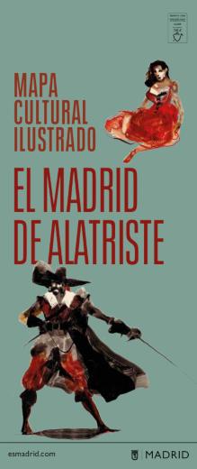 Portada del mapa cultural ilustrado Capitán Alatriste