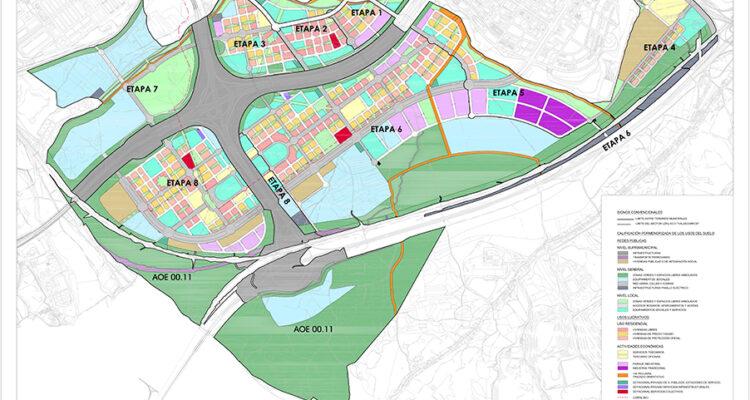 Mapa del desarrollo. Fuente: Valdecarros.com